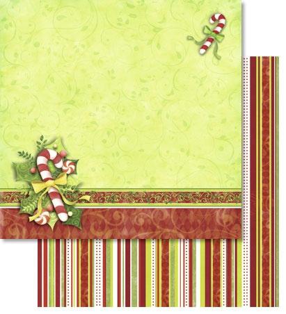 Scrapbook Paper Premium Weihnachtszeit mit Glitter Motiv 153