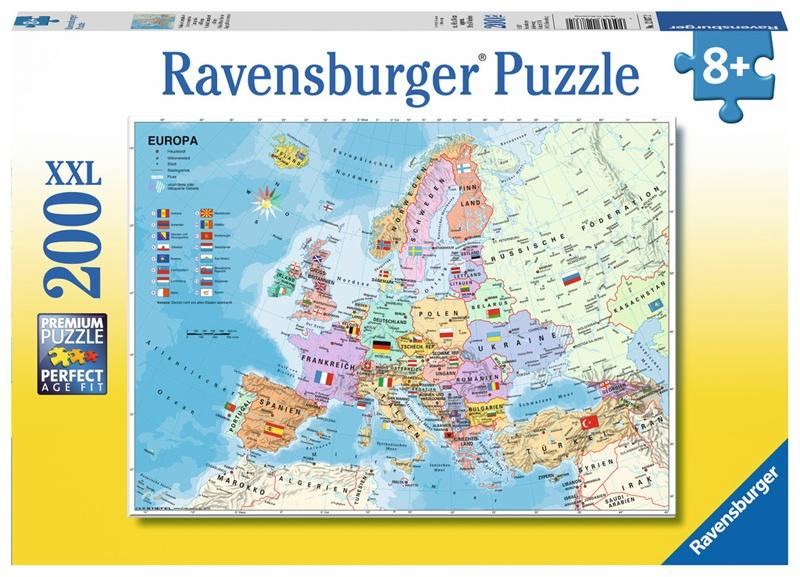 Ravensburger Puzzle Politische Europakarte 200 XXL Teile