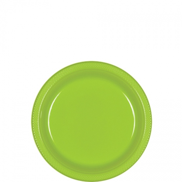 Partyteller Kunststoff 10 Stück kiwi grün