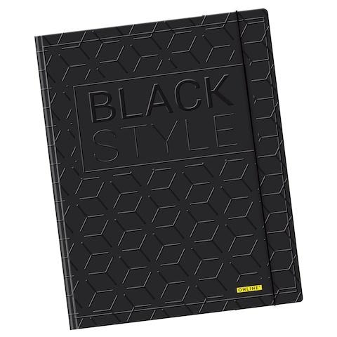 Online Gummizugmappe Black Style A4