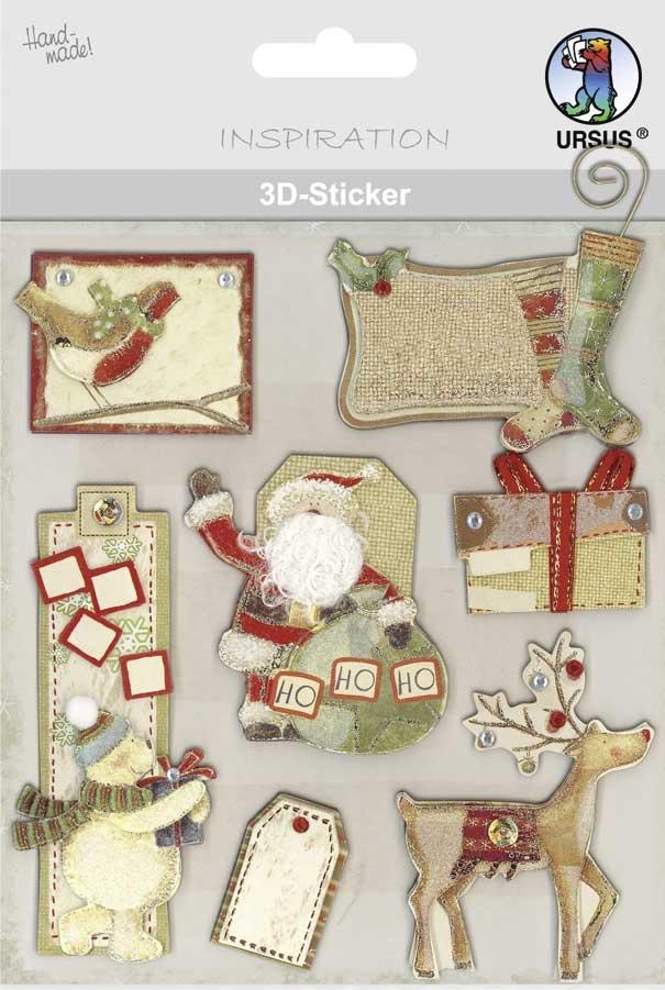 3-D Sticker Motiv 128 Weihnachten