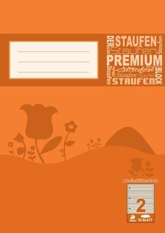Arbeitsblätterblock A4 50 Blatt Lineatur 2