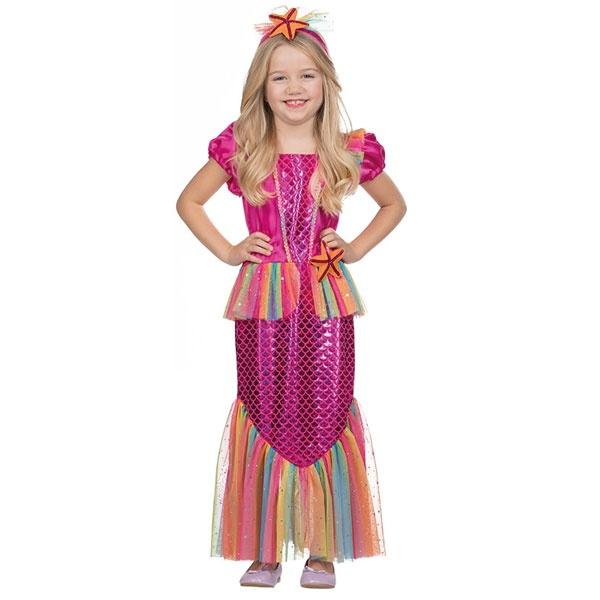 Kostüm Kleine Meerjungfrau pink 140