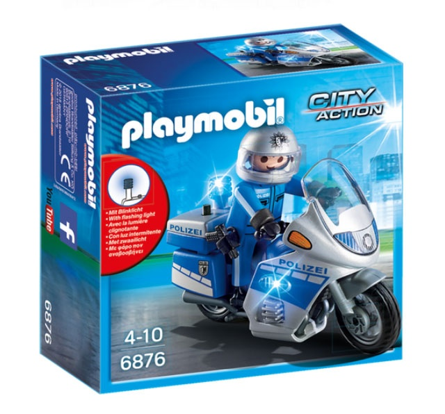Playmobil 6876 City Action Motorradstreife m. LED-Blinklicht