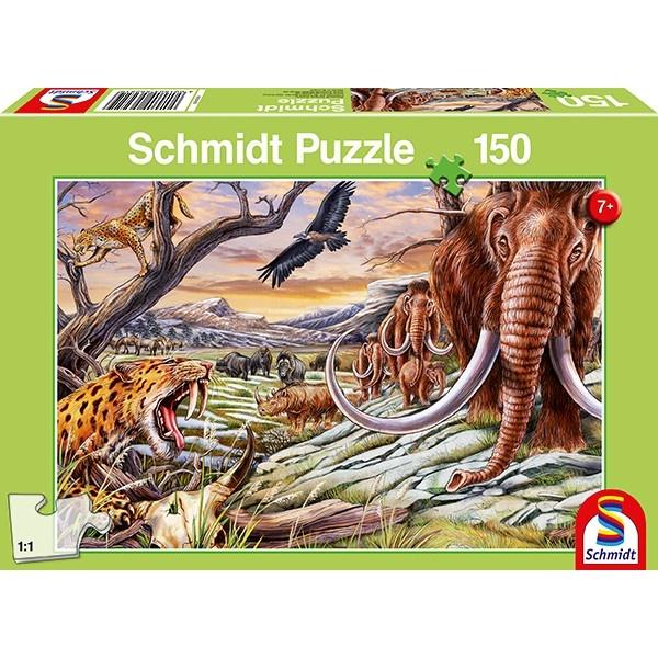 Schmidt Spiele Puzzle Tiere der Eiszeit 150 Teile