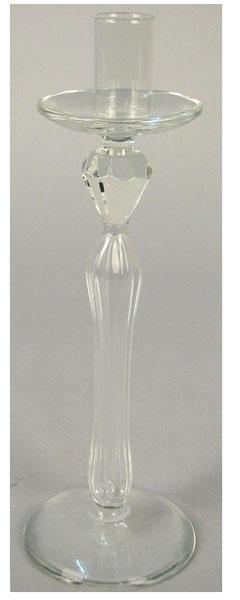 Kerzenständer aus Glas 1flammig 25 cm