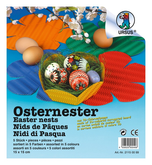 Osternester 3D - Colorwellpappe