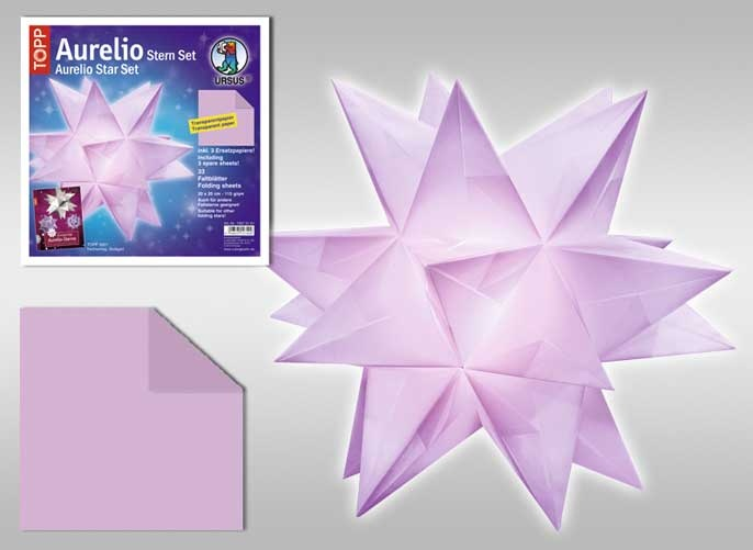 Faltblätter Aurelio Stern lila
