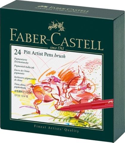 Faber Castell Tuschestift PITT ARTIST PEN 24er Atelierbox