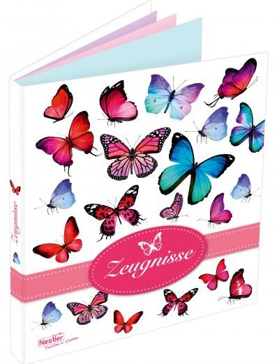 Zeugnismappe Schmetterling