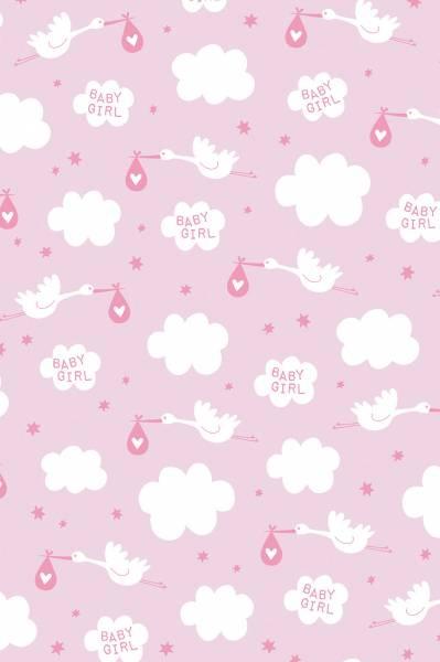 Geschenkpapier-Rolle Little Girl rosa 200 x 70 cm