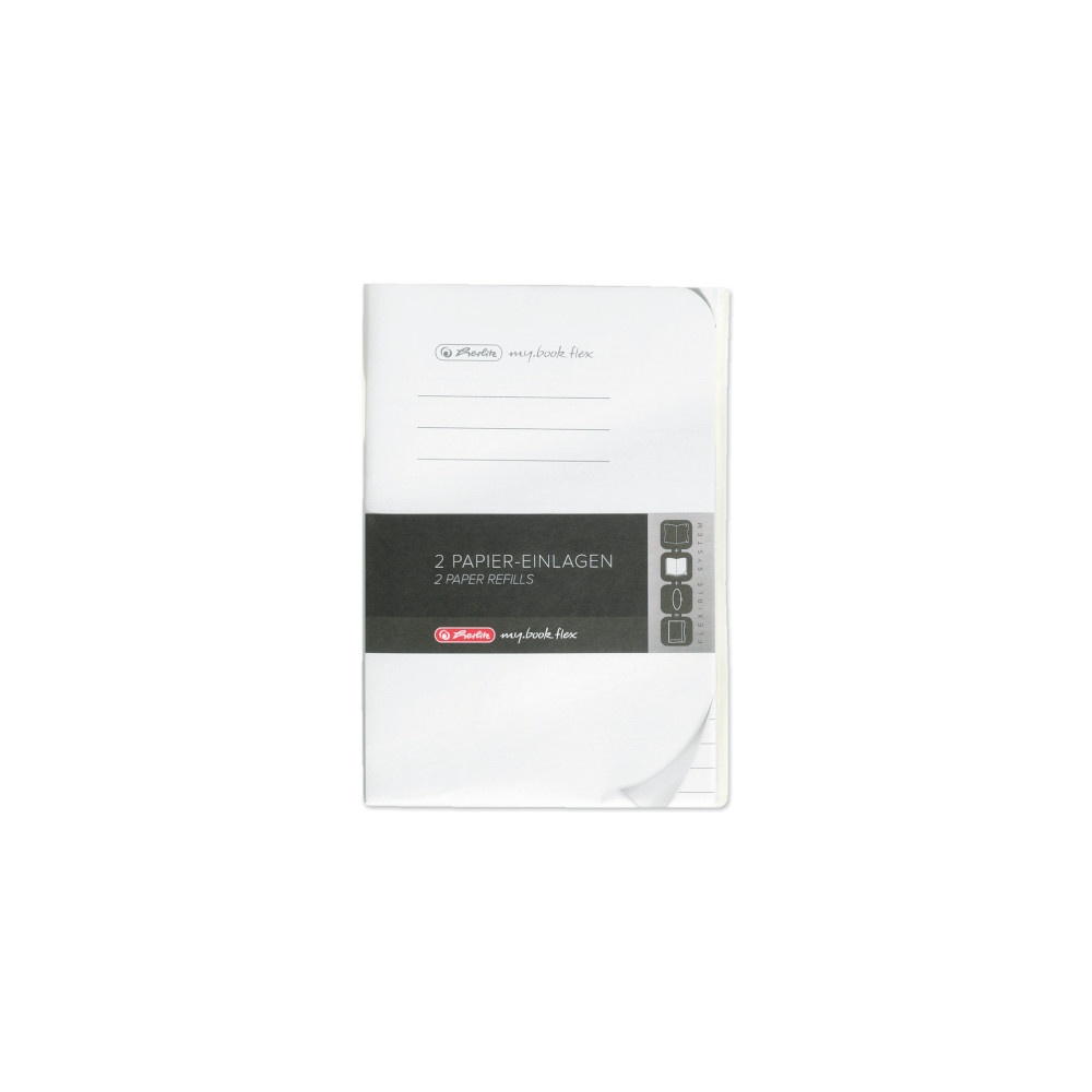 Herlitz Papiereinlagen A6 Refill flex liniert