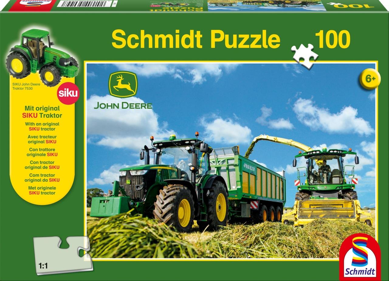 Schmidt Spiele Puzzle John Deere 7310R Traktor 100 Teile