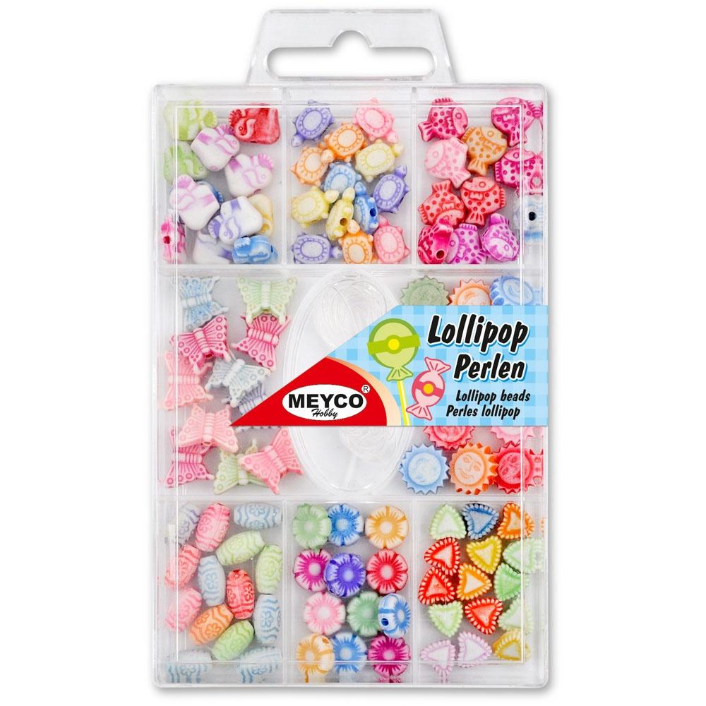 Perlenset Lollipop mit Schnur