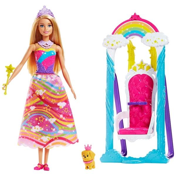 Barbie Dreamtopia Regenbogen-Königreich Prinzessinnen-Schauk