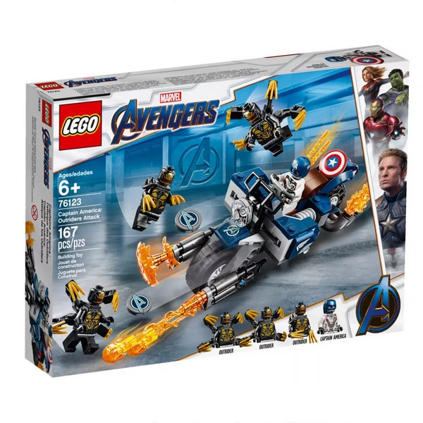 Lego Super Heroes 76123 Captain America Outrider-Attacke