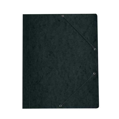 Einschlagmappe A4 mit drei Klappen und Gummizug schwarz