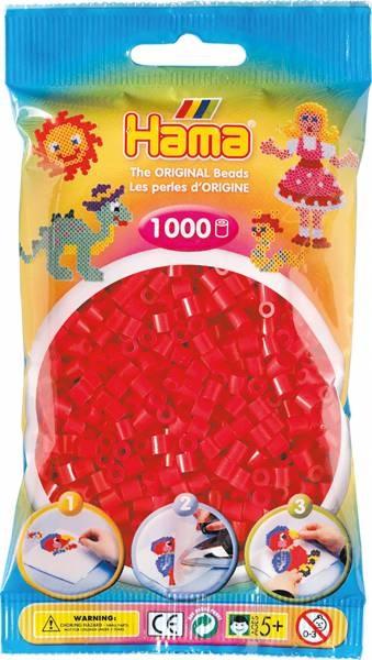 Hama Bügelperlen 1000 Stück rot
