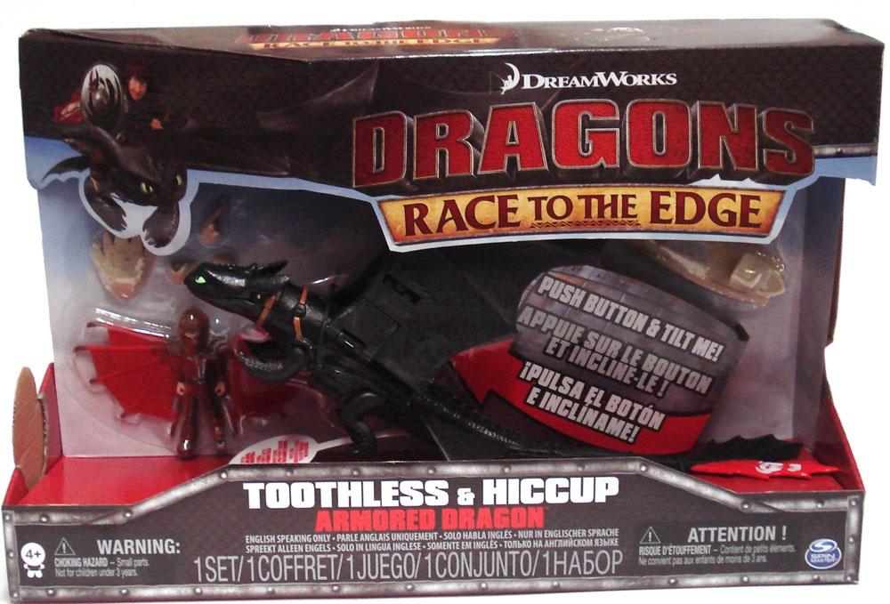 Dragons Drachenzähmen Amored Drache mit Figur Toothless