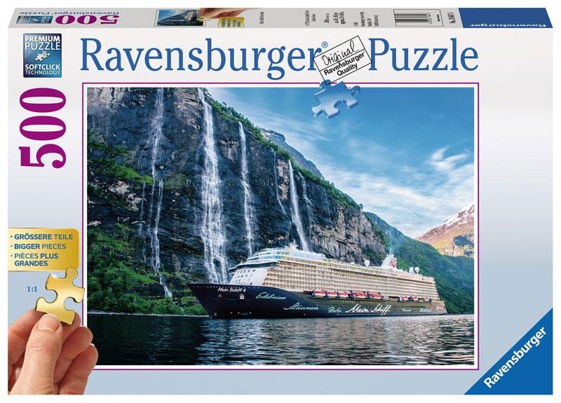 Ravensburger Puzzle Mein Schiff 4 im Fjord 500 Teile