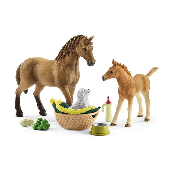 Schleich Horse Club Sarahs Tierbaby-Pflege 42432