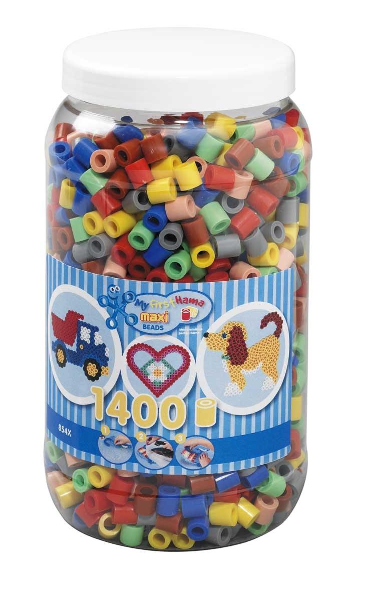 Hama 8543 Maxi Bügelperlen Dose Farbenmix