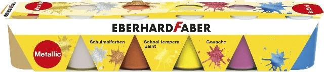Faber Schulmalfarben metallic 6x25ml Set