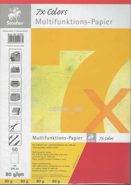 Multifunktionspapier 80g Kopierpapier rot