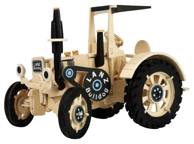 Holzbausatz Traktor Lanz Bulldog