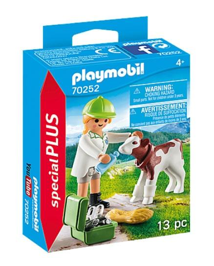 Playmobil 70252 specialPlus Tierärztin mit Kälbchen