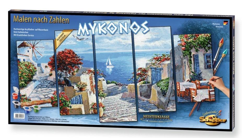 Schipper Malen nach Zahlen Mykonos 132x72cm Polyptychon