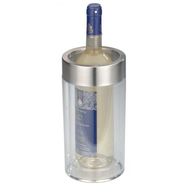 Flaschenkühler Edelstahl transparent