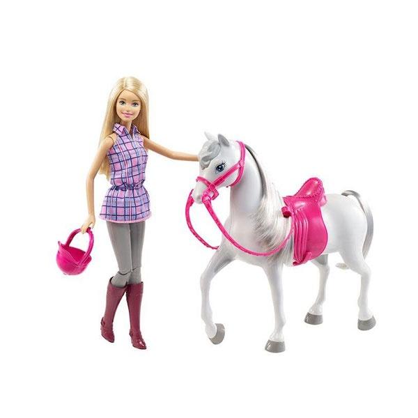 Barbie Puppe mit Pferd