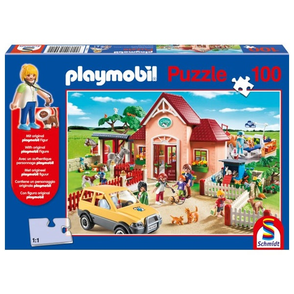 Puzzle Playmobil Tierarztpraxis 100 Teile