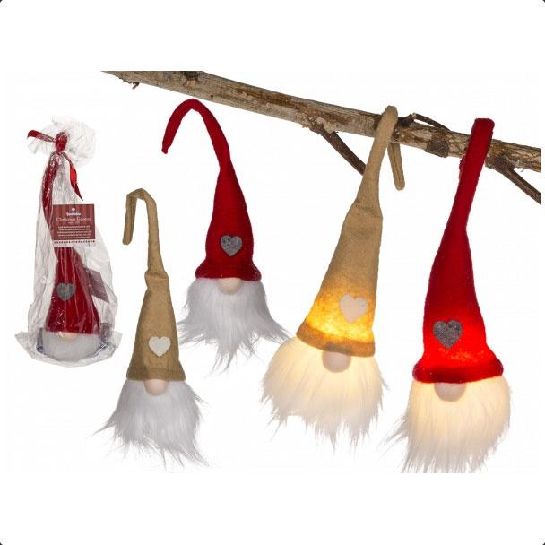 Weihnachtswichtel mit LED creme