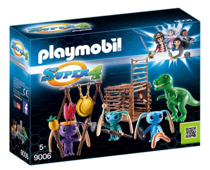 Playmobil 9006 Super4 Alien-Krieger mit T-Rex-Falle