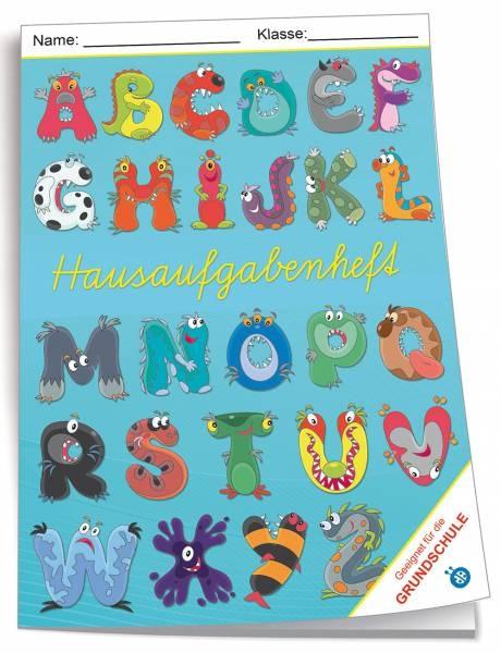 Hausaufgabenheft A5 Grundschule Monster-ABC