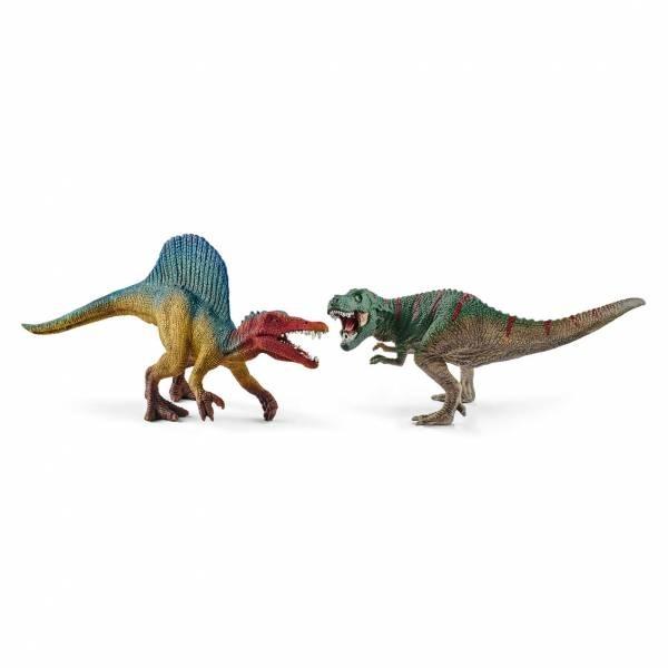 Schleich Dinosaurs Spinosaurus und T-Rex klein 41455