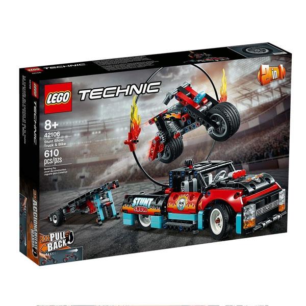 Lego Techic 42106 Stunt-Show mit Truck und Motorrad