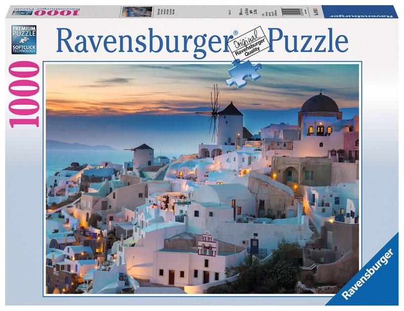 Ravensburger Puzzle Abend über Santorini 1000 Teile