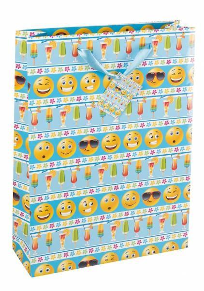 Geschenktaschel Emoticon 23 x 18 x 8 cm