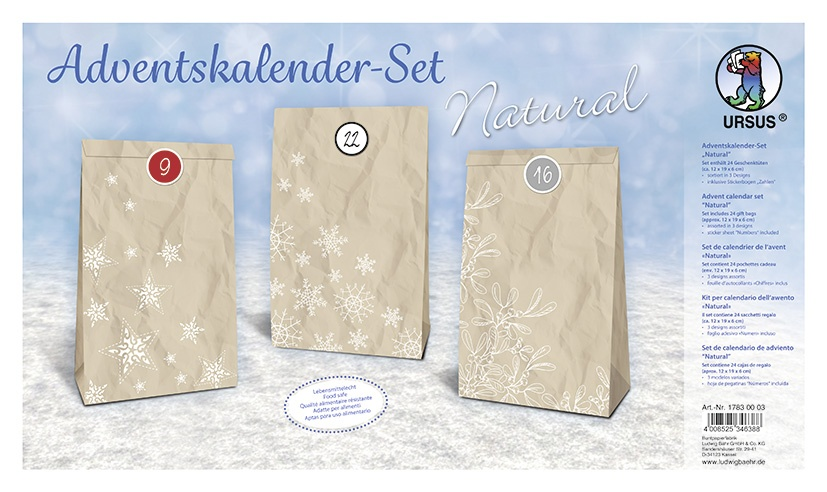 Adventskalender Bastelset Natural