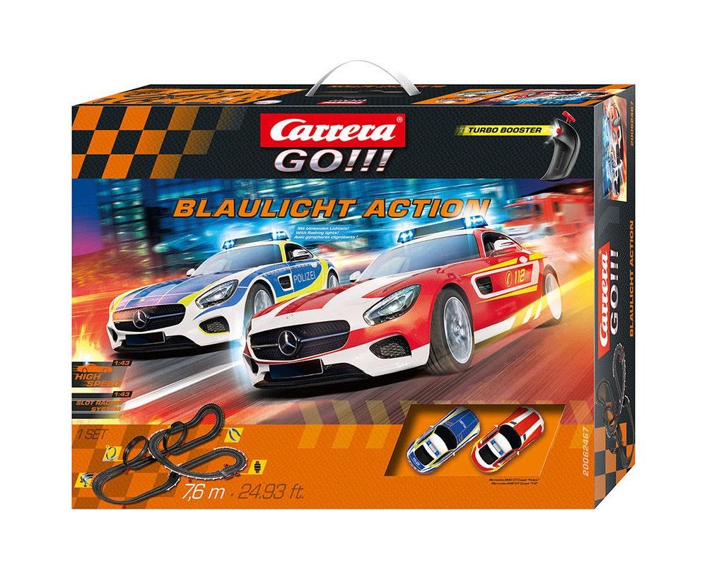 Carrera GO!!! Autorennbahn Blaulicht Action 62467