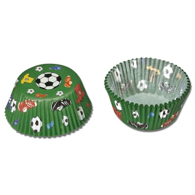 Muffinförmchen Fußball mini