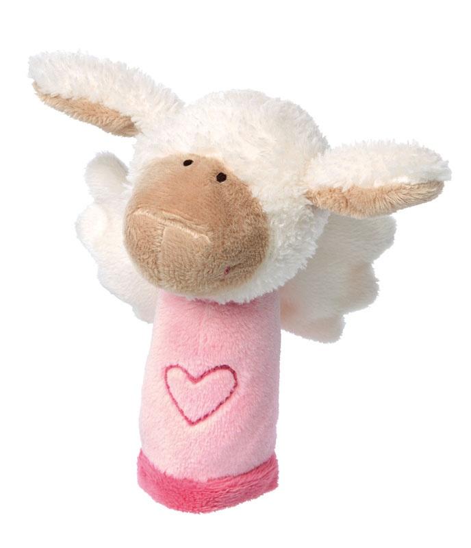 Sigikid Greifling mit Rasselfunktion Schutzengel Schaf rosa