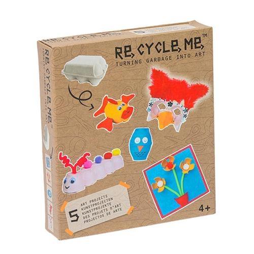 Re-Cycle-Me Bastelbox Basteln mit Eierbox für Mädchen