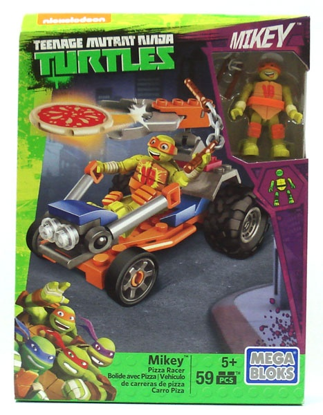 Mega Bloks Turtles Mikey Pizza Racer