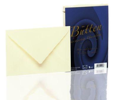 Briefumschlag Bütten imitiert 25 Stück ivory C6