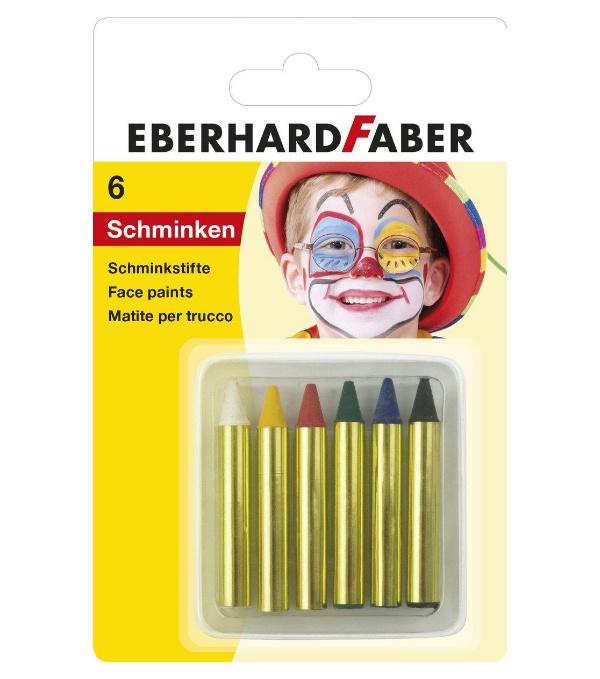 Faber Schminkstifte kurz 6er Blister