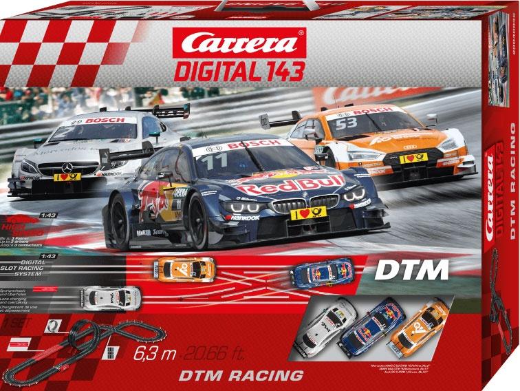 Carrera Digital 143 Autorennbahn DTM Racing